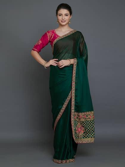 a85f2e9ef69 Green Saree - Buy Green Color Sarees Online