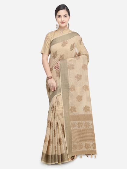 bea041d1f7a7c8 Cream Saree | Buy Cream Colour Sarees Online in India