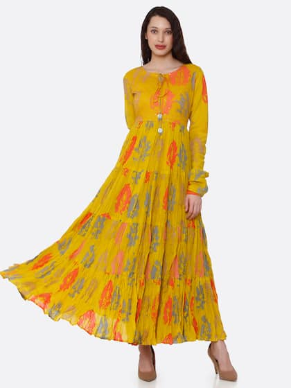 3bcdb3737e4 Long Sleeve Gowns - Buy Full Sleeve Gown Online in India | Myntra