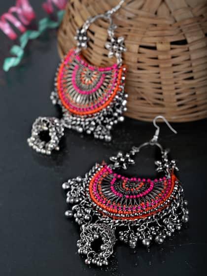 7140778f14db2 Jhumkas - Buy Jhumka Earrings Online in India | Myntra