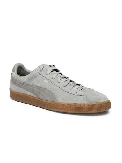 0800485c7811f3 Puma Grey Suede - Buy Puma Grey Suede online in India
