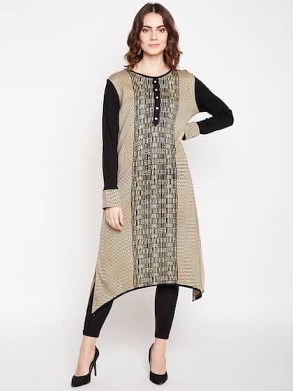 d03abcf6922 Woolen Kurtas - Buy Woolen Kurtas Online in India