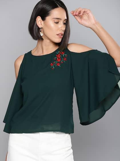 9727ca6cb9050 Cold Shoulder Tops - Buy Cold Shoulder Tops for Women Online - Myntra