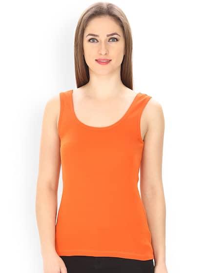 NWT DANCE Costume Orange Printed Tank Top Ladies Sizes