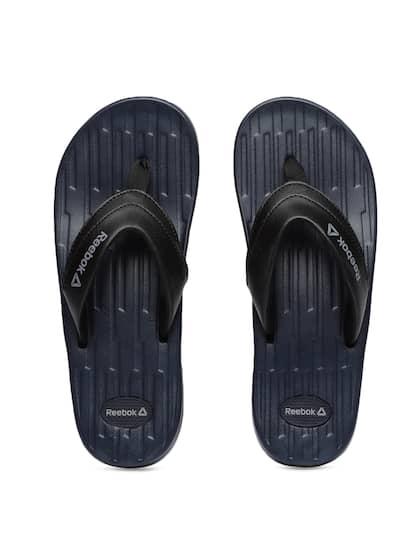 1c779a5ef83278 Reebok Men Black Solid RYAN Thong Flip-Flops