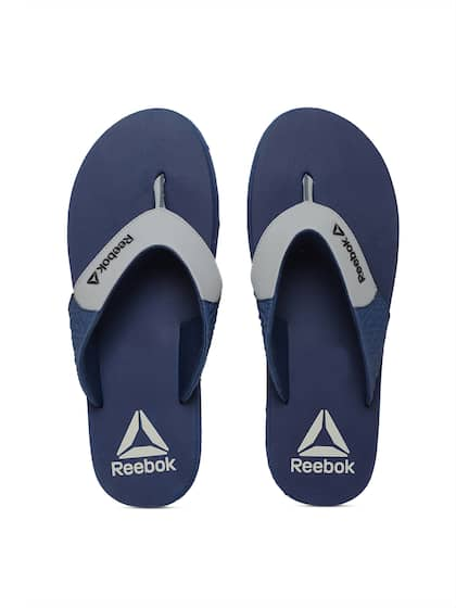56d74e70e3c321 Reebok Men Grey   Blue Colourblocked Thong Flip-Flops