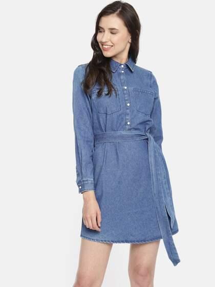 613d2c9cb Denim Dresses - Buy Denim Dresses Online in India | Myntra