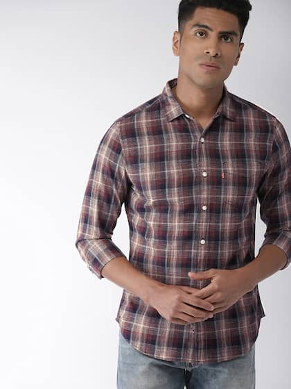 8a60a044f7d83 Men Check Shirts - Buy Men Check Shirts online in India