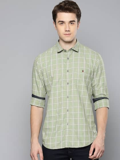 39135571cfbc Olive Green Jeans Shirts - Buy Olive Green Jeans Shirts online in India