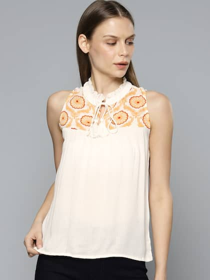 c1ad9acb4df Ladies Tops - Buy Tops & T-shirts for Women Online | Myntra