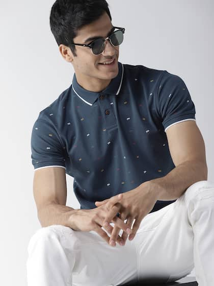06778a282d Mast   Harbour. Printed Polo Collar T-shirt