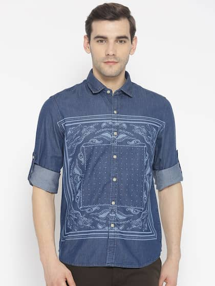 c9adb121c6b Denim Shirts - Buy Denim Shirts for Men Online in India