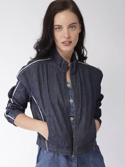 Levis. Women Solid Denim Jacket e06a0a413
