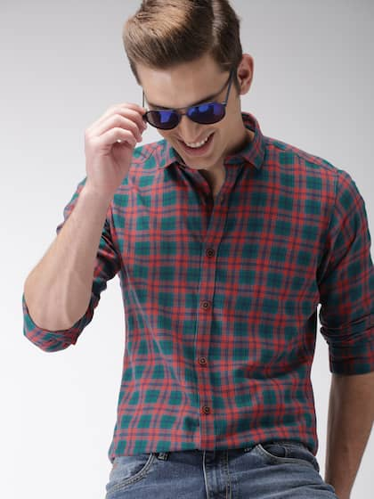 6435b81060 Mast   Harbour Men Green   Orange Regular Fit Checked Casual Shirt