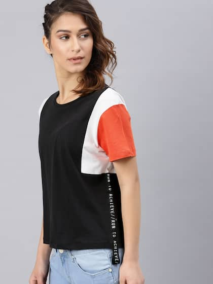 3371d286c41ce HRX by Hrithik Roshan. Women Solid Round Neck T-shirt