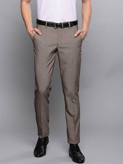 33b1600e Men Formal Trousers | Buy Men Formal Trousers Online in India