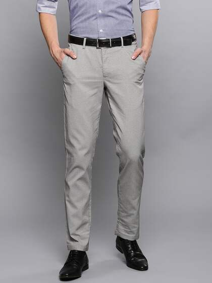 74eecd51a55 Louis Philippe. Men Slim Fit Formal Trousers
