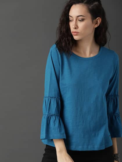 20e3711eeb8c29 Flared Tops - Buy Flared Tops online in India
