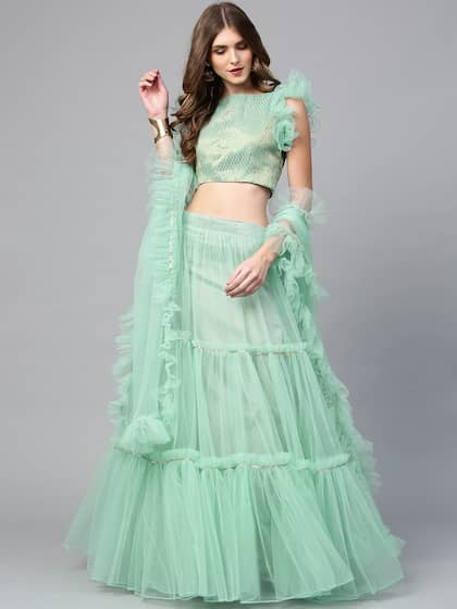 9fc4124568 Green Lehenga Choli | Buy Green Lehenga Choli online in India