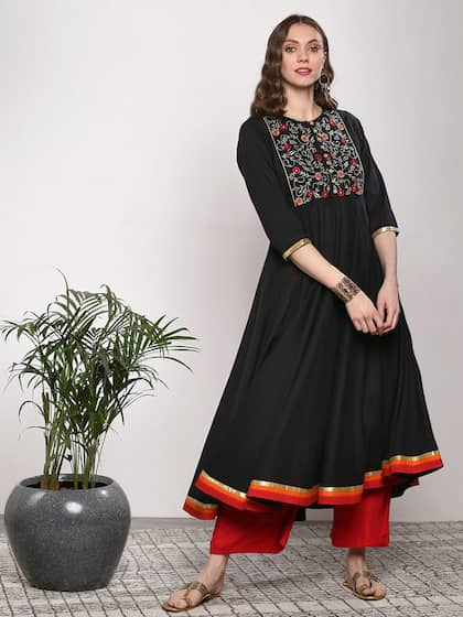 3b37201403 Cotton Anarkali Kurtas - Buy Cotton Anarkali Kurtas online in India