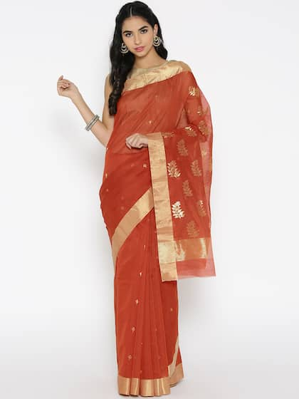 e5cd2882f8d Chanderi Sarees - Buy Chanderi Sarees Online in India