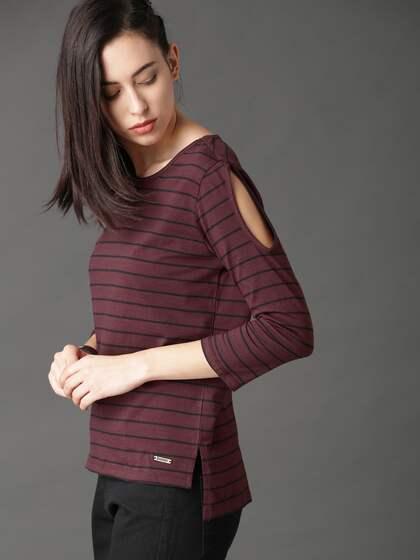4c9d37fb953 Cold Shoulder Tops - Buy Cold Shoulder Tops for Women Online - Myntra