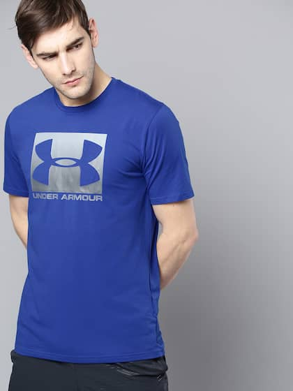 2fe94a708433 Under Armour Men Blue Printed Boxed Sportstyle T-shirt