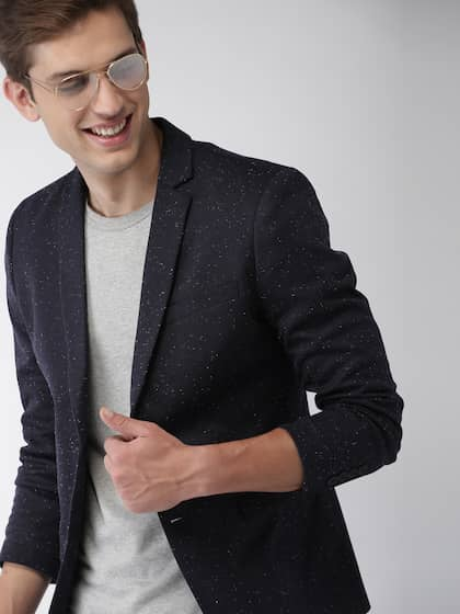 b8db0e6a7 Mast   Harbour Navy Blue Single-Breasted Knitted Blazer