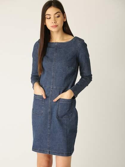 97b16d02d34 Denim Dresses - Buy Denim Dresses Online in India | Myntra