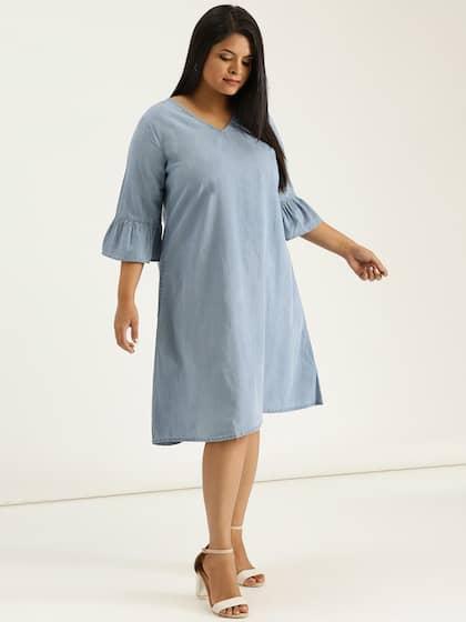 cacc0a4d491 Denim Dresses - Buy Denim Dresses Online in India