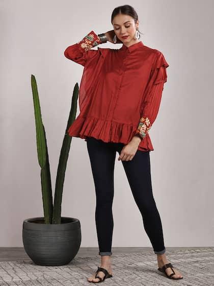 65ca05362b7efa Peplum Tops - Buy Peplum Tops for Women Online - Myntra