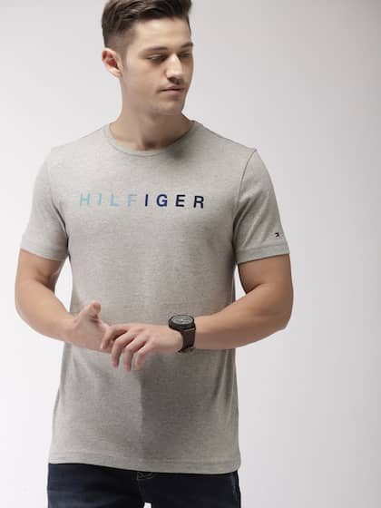 43a558de Tommy Hilfiger Grey Melange By Lifestyle By Lifestyle Topwear - Buy ...