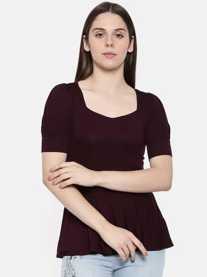 9183b5b522d9a1 Peplum Tops - Buy Peplum Tops for Women Online - Myntra