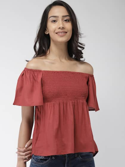16f918a8d5e69 Off Shoulder Tops - Buy Off Shoulder Tops Online in India