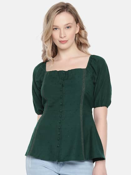 68b24c40ba41 Green Lace Tops - Buy Green Lace Tops online in India