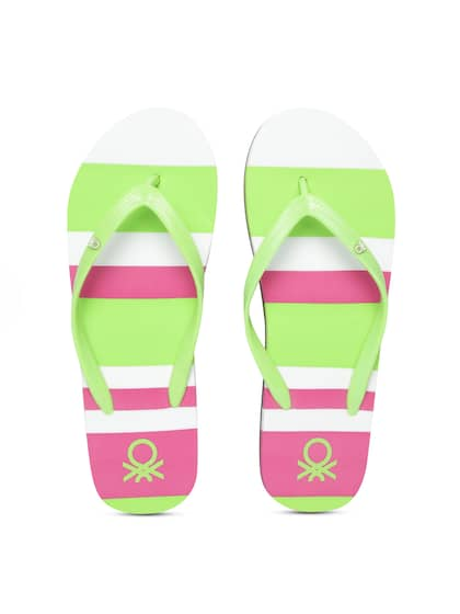 750836bc8e981 United Colors of Benetton. Women Striped Thong Flip-Flops
