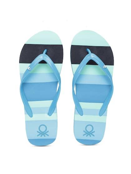 0521b6e255ed69 United Colors of Benetton. Women Striped Thong Flip Flops