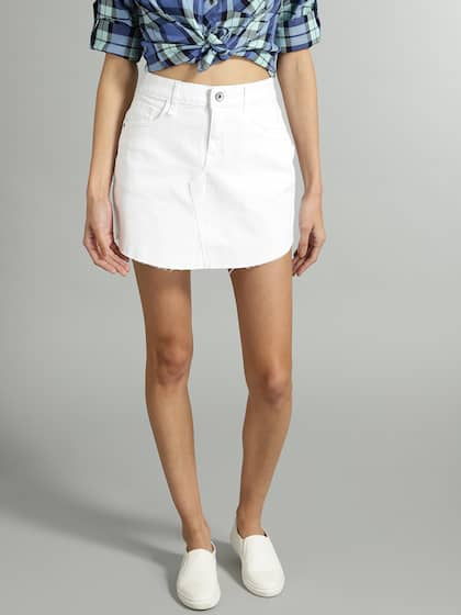 7d85662b492b9f Denim Skirts - Buy Denim Skirts for Women Online | Myntra