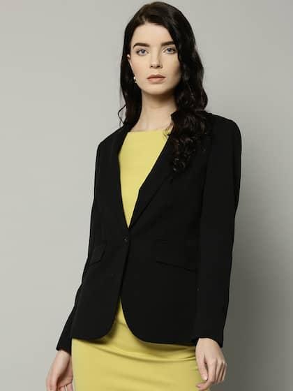 Blazers Women Slim Long Sleeve Formal Blazer Ol Fashion Notched Collar Jacket Office Ladies Suit Work Wear Blue Black Coat Top Sale Overall Discount 50-70%