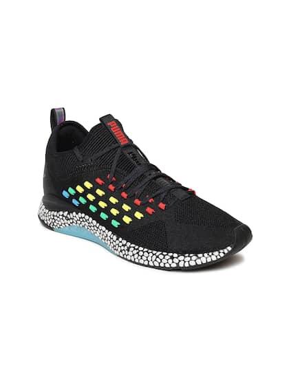 39d0565a46225 Puma Men Black Hybrid FUSEFIT Heat Map Running Shoes