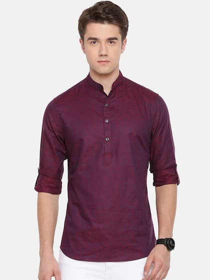 1adc5fc0f3ee8 THE BEAR HOUSE Men Burgundy Club Slim Fit Printed Party Shirt