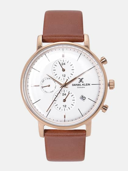 Leather Watch Buy Leather Strap Watches Online Myntra