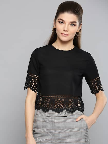 fee34e845 Crop Tops - Buy Midriff Crop Tops Online for Women in India