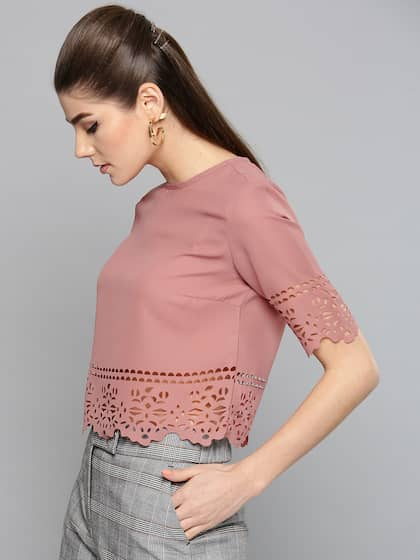 b2c320f7825b5 Crop Tops - Buy Midriff Crop Tops Online for Women in India