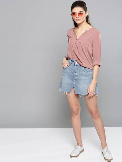 28c183e16 Ladies Tops - Buy Tops & T-shirts for Women Online | Myntra