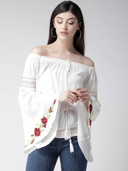 9776b867c35 Off Shoulder Tops - Buy Off Shoulder Tops Online in India