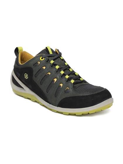 Woodland Men Green & Black Sneakers