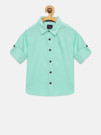 4fe08e40f38 Allen Solly Junior. Boys Regular Fit Casual Shirt