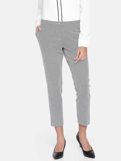 5b5dc0681b79 Size. Van Heusen Woman Women Black   Off-White Regular Fit Printed Regular  Trousers