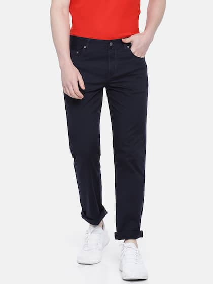 cc3be85a548876 Navy Blue Trousers - Buy Navy Blue Trousers online in India